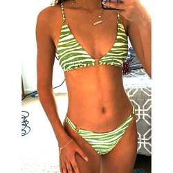 Sexy Striped Bikini 2021 Woman Micro Swimsuit Female Swimwear Women Bathing Suit Brazilian Bikinis Set Swimming for Beach Wear