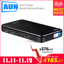 AUN MINI Projector Video-Beamer Voice-Control-Version WIFI Android-7.1 Home Cinema Portable