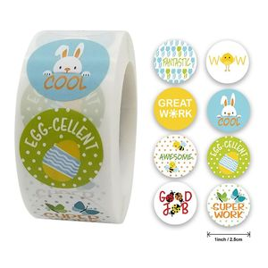 Cute Animal Print Teaching Incentives Label Stickers Craft Per Roll Stationery 896A