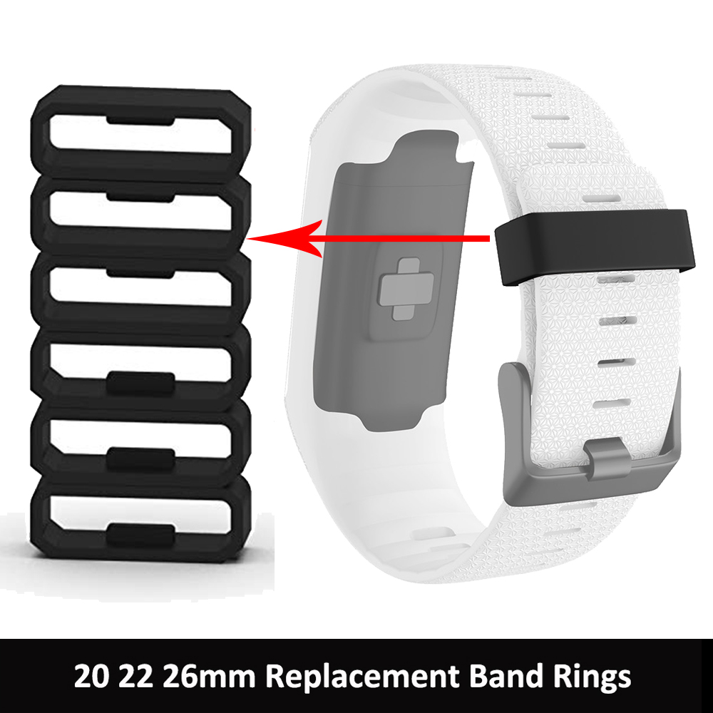 Soft Silicone Watch Strap Band Replacement Keeper Loop Security Holder Retainer Ring For Garmin Fenix 6 6S 6X Pro 5 5X 5S Plus