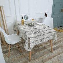 Mantel nórdico para el hogar, mantel Vintage de algodón de grano de madera, mantel de lino, corteza de imitación, mesa de comedor impresa, mantel de mesa de café