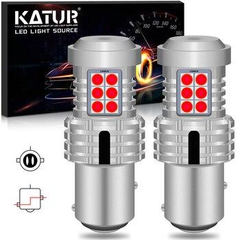 Katur 2x Canbus Auto Brake Lights 1157 Bay15d P21/5W LED Bulb SMD Tail Light Stop Car Signal Lamp Red White Orange 12V DC