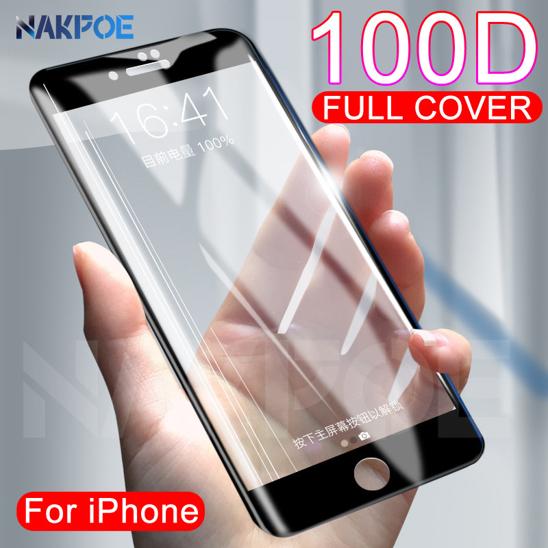100D Protective Tempered Glass On The For IPhone 6 6s 7 8 Plus X Glass Screen Protector Film IPhone 11 Pro XR XS MAX Glass Film