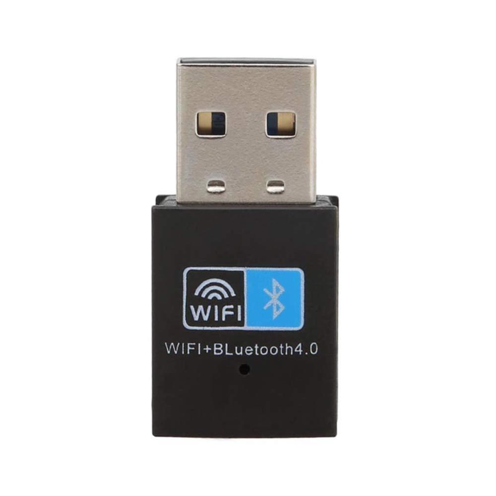 ZEXMTE USB Bluetooth 4.0 Adapter Dongle, 150M Wireless WiFi Network LAN Card + Bluetooth V4.0 Adapter for Desktop Laptop PC