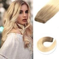 "Neitsi Straight Double Drawn Remy Human Hair Weave Extensions Balayage 20"" 50cm 100g/pc Ombre Natural Hair Weft Bundles"