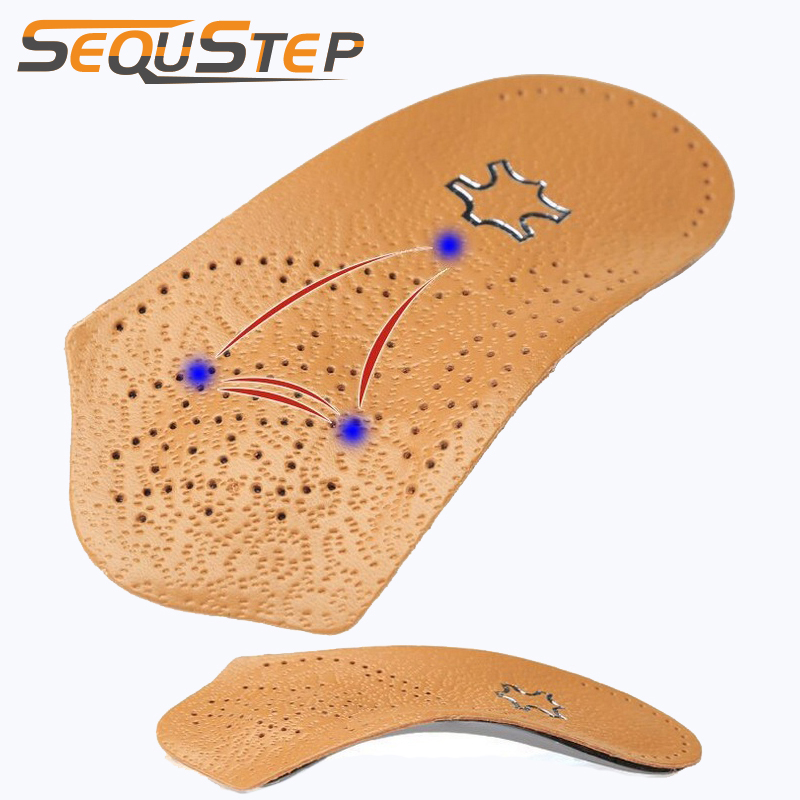 Half Arch Support Orthopedic Insoles Flat Foot Correct 3/4 Length Orthotic Insole Feet Care Health Orthotics Insert Shoe Pad