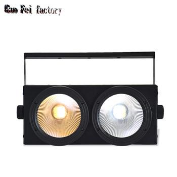 2eyes 2x100w Strobe Effect Par LED 200w wash COB Bar Disco Light 2IN1 DMX KTV Bar Christmas New Year Par Light