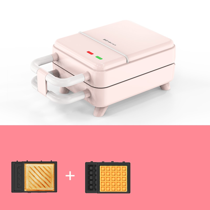 220V Electric Waffle Baking Machine Sandwich Breakfast Bread Maker With 2 Types Plates EU/AU/UK/US Plug Available image