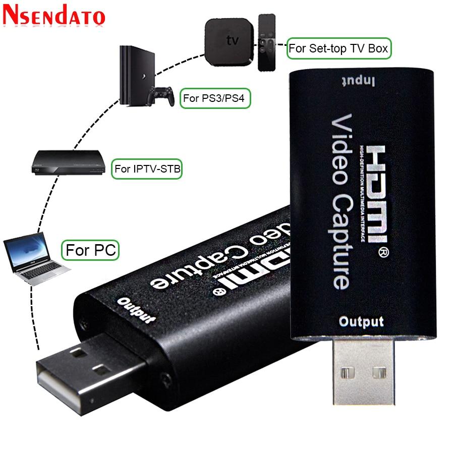 4K USB-Карта видеозахвата USB 2,0 HDMI-видеозахват записывающий адаптер с петлей аудио для ПК Youtube OBS потоковая трансляция в прямом эфире
