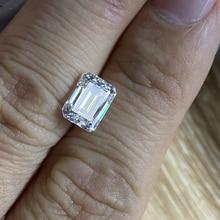 High Quality Emerald Cut 5x7mm 1 Carat Clarity VVS1 Color White D Lab Creat Moissanite Stone