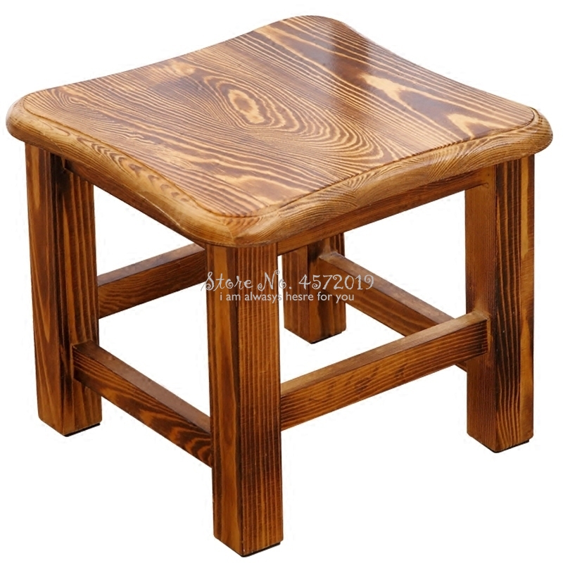 Log Stool Home Fashion Solid Wood Creative Bench Adult Low Stool Living Room Coffee Table Stool Dining Table Stool Shoe Bench