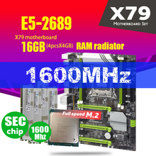 X79 Turbo Scheda Madre LGA2011 ATX Combo E5 2689 CPU 4pcs x 4GB = 16GB DDR3 RAM Radiatore 1600Mhz PC3 12800R PCI E NVME M.2 SSD