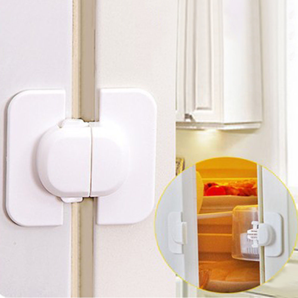 4pc/lot Baby Safety Door Lock Proof Cupboard Fridge Cabinet Prevent Clamping Toddler Safety Locks