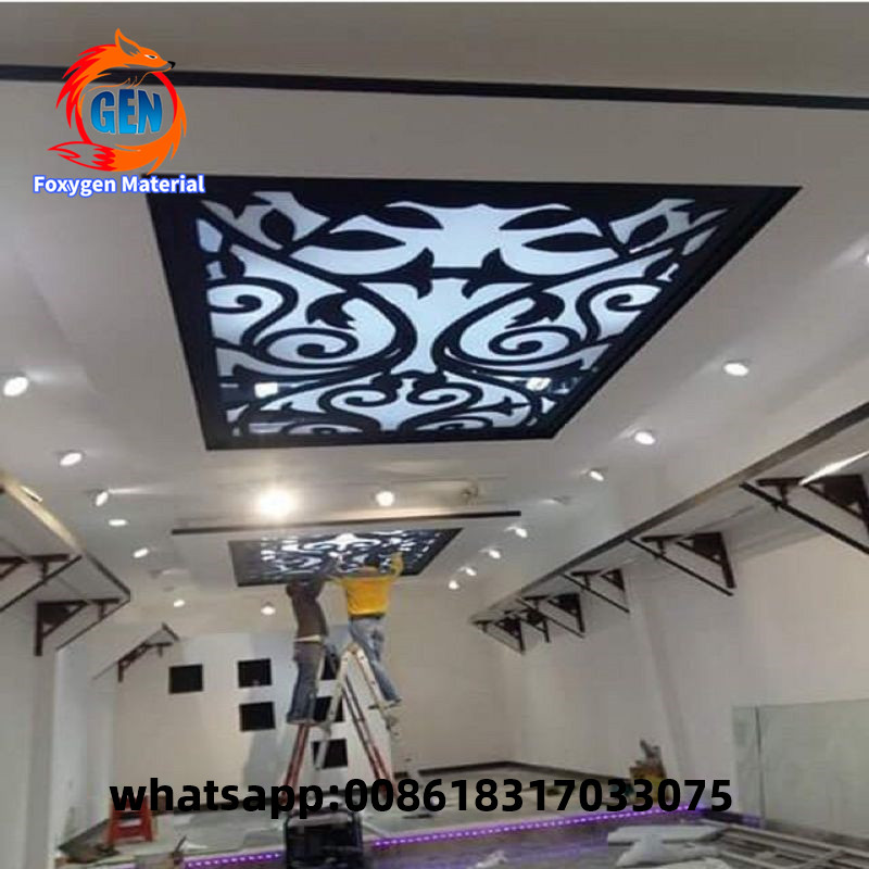 Pop Ceiling Design Pvc False Ceiling Panel Stretch Ceiling Film For Hall And Wall Decor Wallpapers Aliexpress