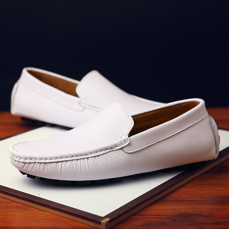 Loafer Genuine Leather Boat Shoes Breathable Male Casual Flats Loafers Brand New Fashion Summer Spring Men Driving Shoes