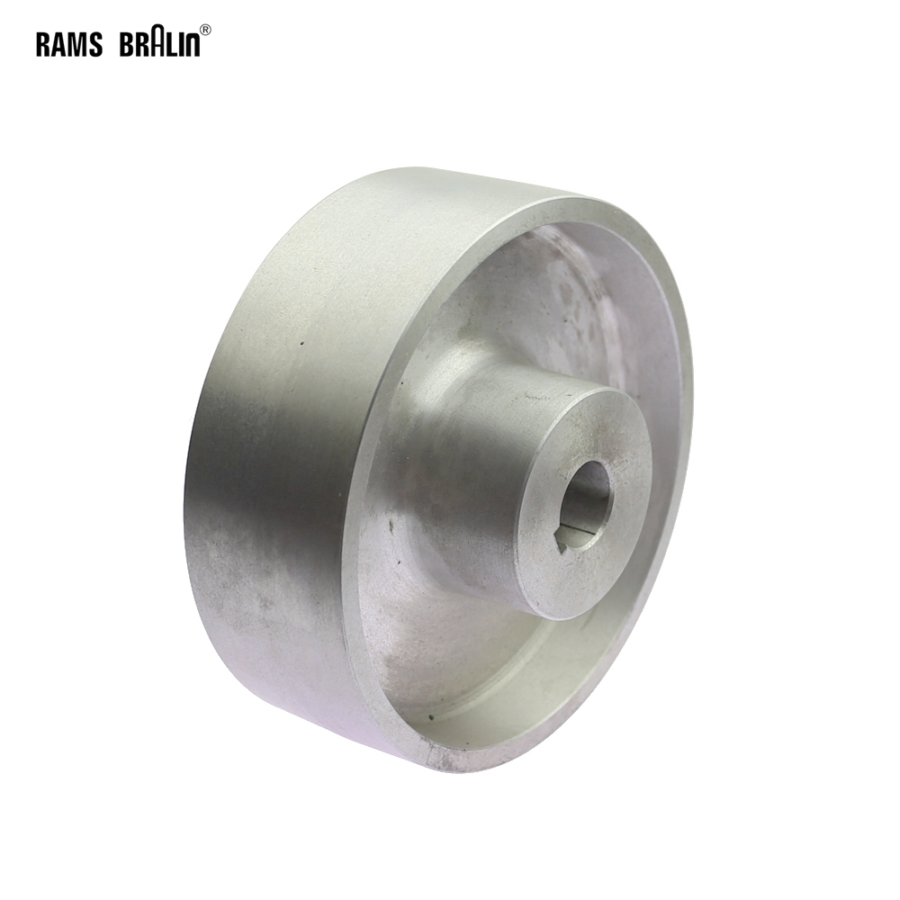160*54*24mm Fully Aluminum Belt Grinder Running Wheel Roller Driving Wheel With 8*3mm Key Slot