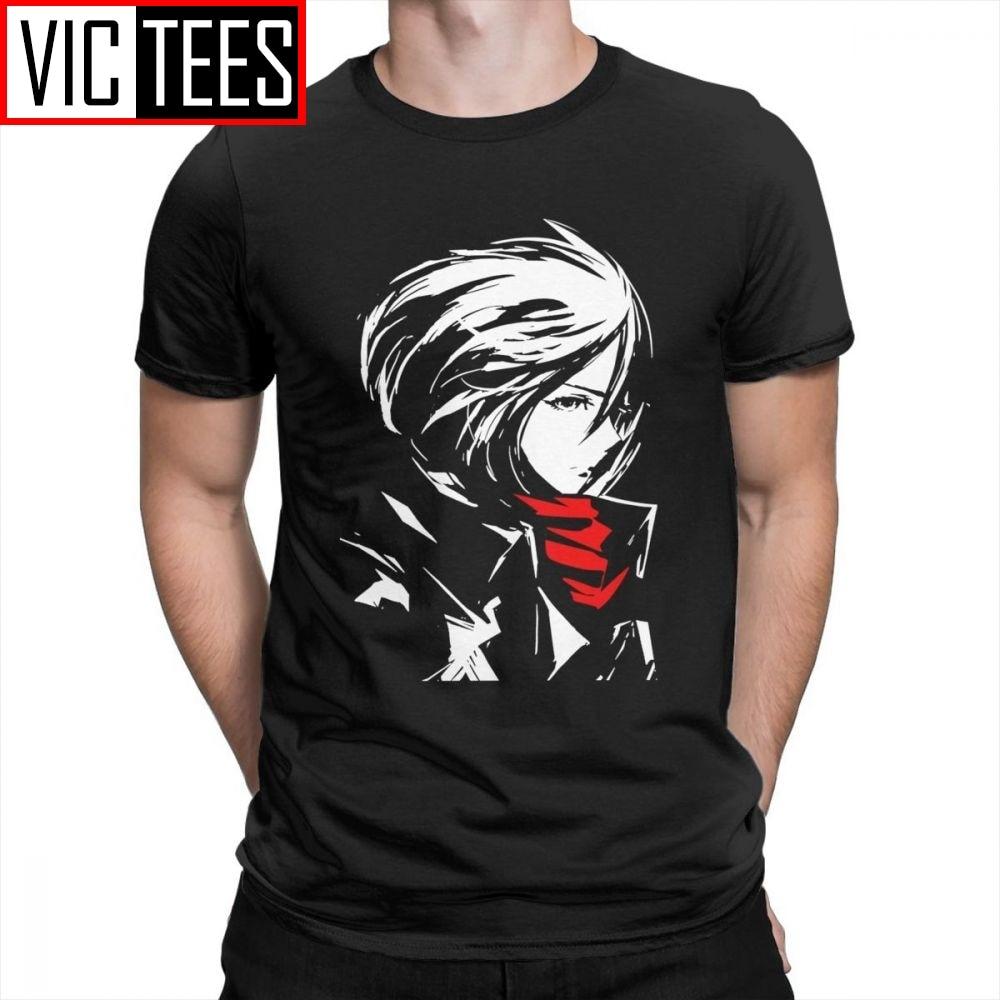 Men's Attack On Titan Mikasa AOT Beautiful T Shirts Purified Cotton Mens T-Shirts Cool Tee Shirts Unique Crewneck