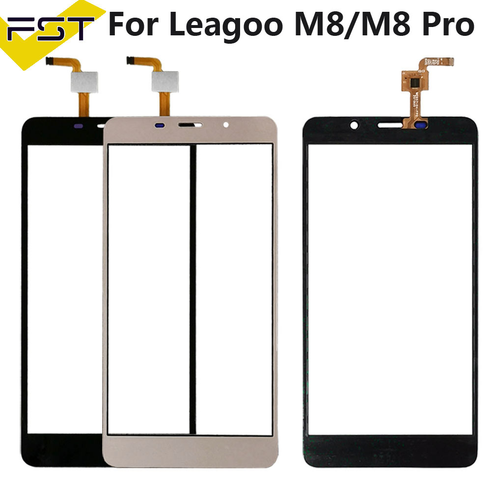 5.7'' Black/Gold Tested Well Touch Screen Digitizer Panel For <font><b>Leagoo</b></font> <font><b>M8</b></font> / <font><b>M8</b></font> <font><b>Pro</b></font> Touch Panel Front Glass Lens Sensor Touchscreen image