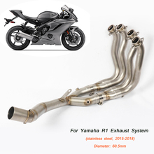 2015 2016 2017 2018 Silp on for Yamaha YZF-R1 R1 Motorcycle Stainless Steel Full Link Pipe Non-destructive Silencer System цена в Москве и Питере