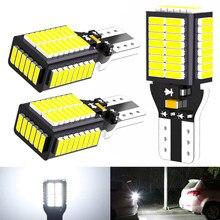 3x W16W светодиодный CANBUS 921 912 ошибок T15 Автомобильная резервная копия светильник лампочка 6000 К белый свет 12 В для авто Защитные чехлы для сидени...