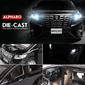 Image 5 - NEW 1:24 1:32 Toyota Alphard Luxury Business Car Model Alloy Pull Back Diecasts Toy Vehicles 6 doors can be opened Free Shipping