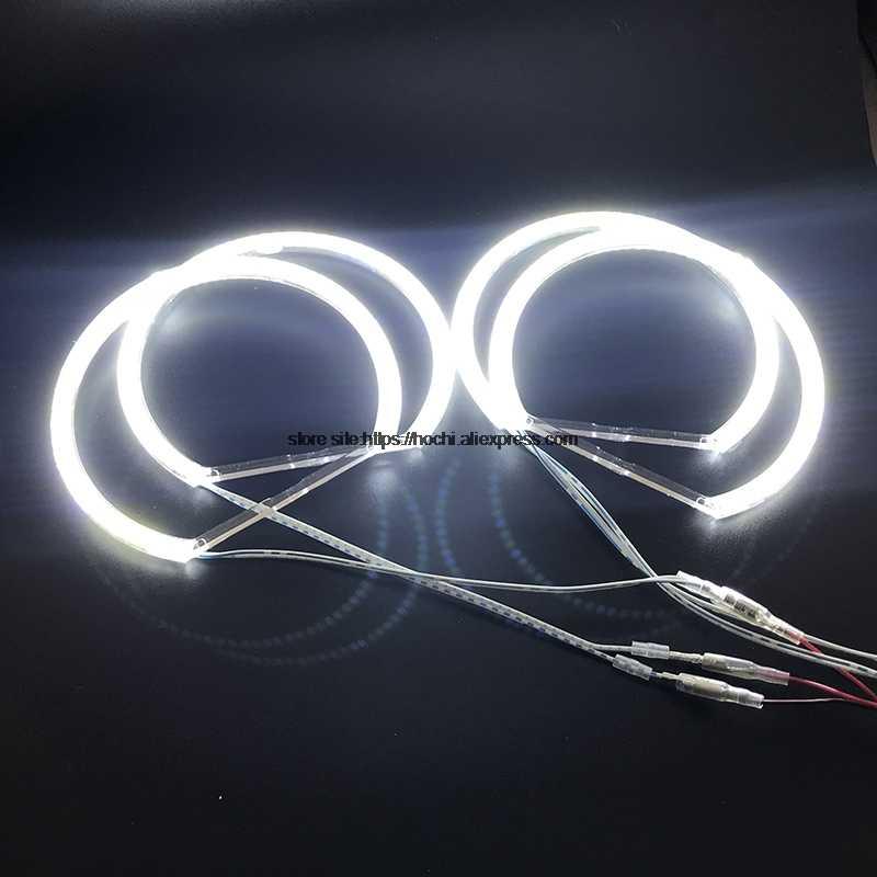 Hochitech untuk BMW E36 E38 E39 E46 Proyektor Ultra Terang SMD Putih LED Angel Eyes 2600LM 12V Halo Cincin kit Siang Hari Lampu 131mmx4