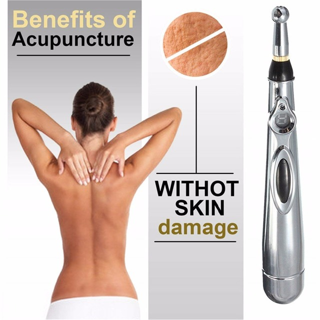 2019 New Electronic Acupuncture Pen Electric Meridians Laser Therapy Heal Massage Pen Meridian Energy Pen Relief Pain Tools 4