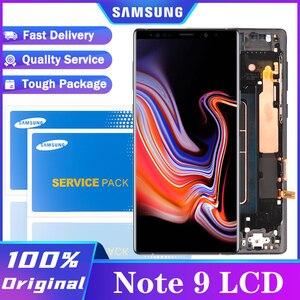 Image 1 - מקורי סופר AMOLED 6.4 תצוגה + מסגרת לסמסונג גלקסי הערה 9 Note9 N960D N960F LCD מסך מגע Digitizer חלקי תיקון