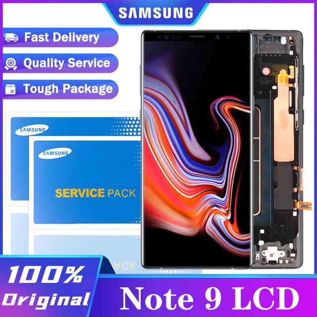 מקורי סופר AMOLED 6.4 תצוגה + מסגרת לסמסונג גלקסי הערה 9 Note9 N960D N960F LCD מסך מגע Digitizer חלקי תיקון