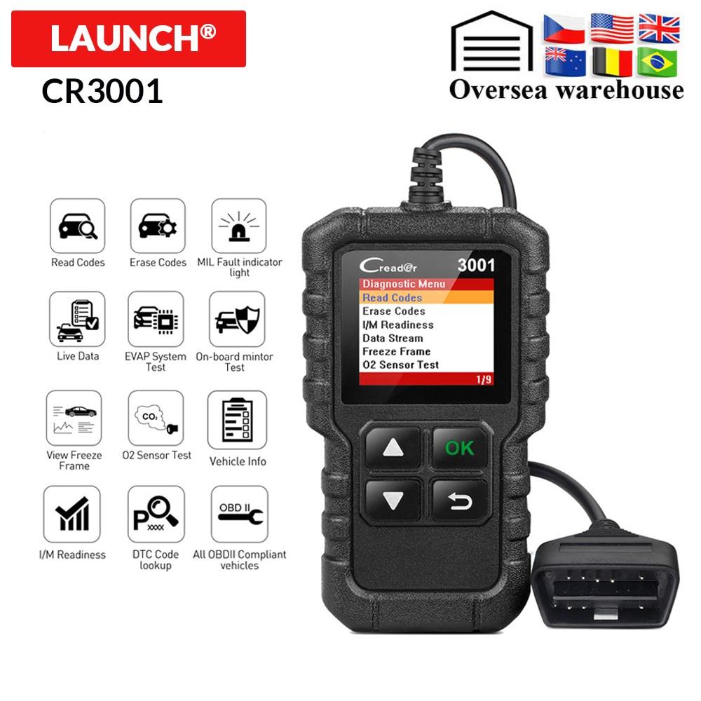 LAUNCH X431 CR3001 OBD2 Scanner Support Full OBD II EOBD Launch Creader 3001 Auto Scanner diagnostic Innrech Market.com