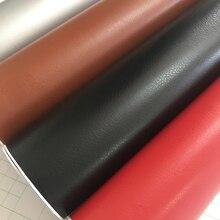Pelle nera grana Texture vinile Car Wrap Sticker Decal Film foglio adesivo adesivo interno Car Styling rivestimento avvolgimento