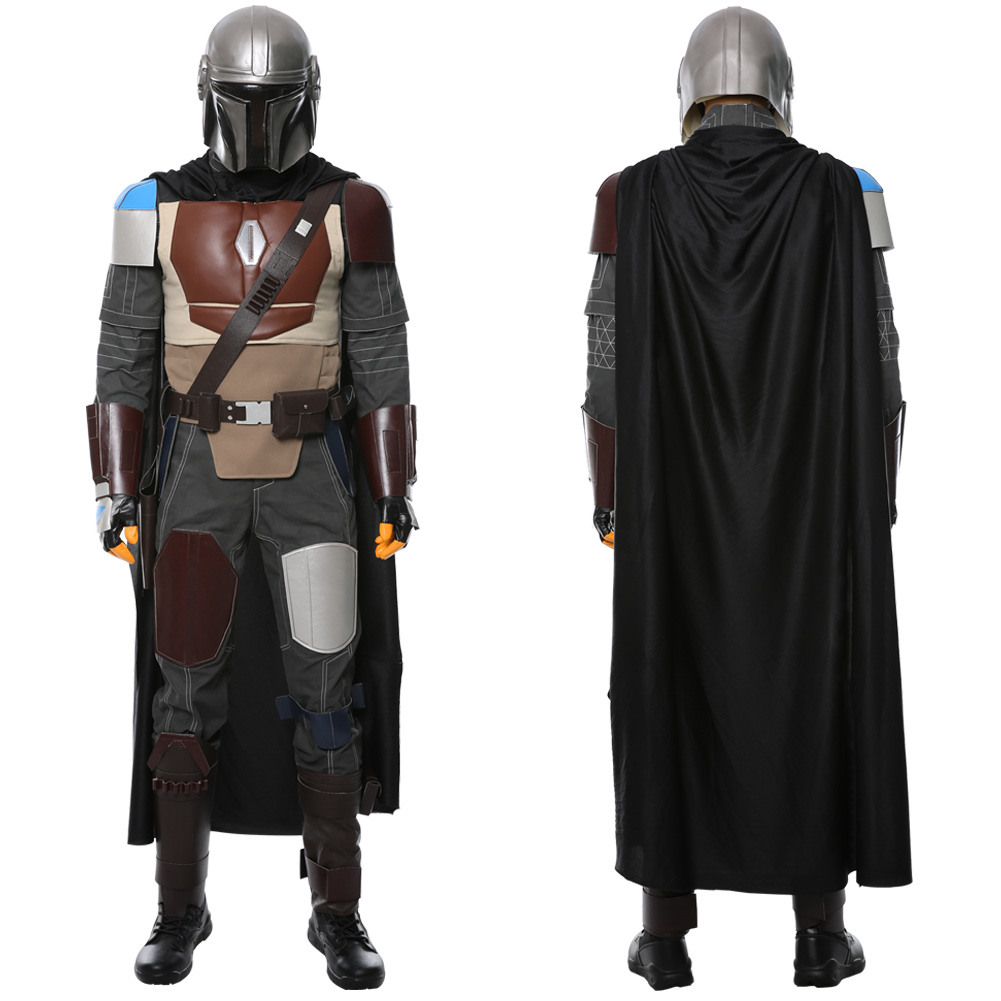 Star Wars Mandalorian Cosplay Costume Halloween Uniform Suit Outfit Mask