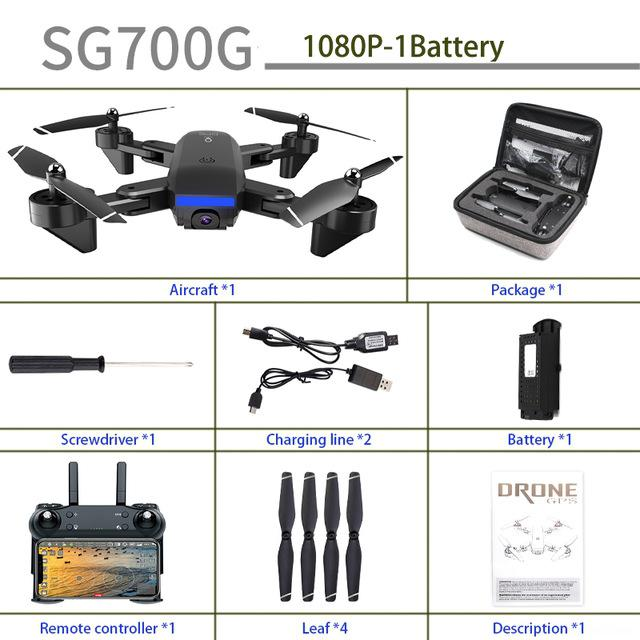 Sg700g Gps Drone With 4k Hd Adjustment Camera Wide Angle 5g Wifi Fpv Rc Quadcopter Professional Foldable Drones Vs Sg907