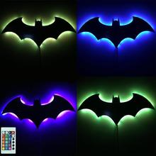 цены Creative Holiday Gifts LED Night Lights New Hero Remote Batman 3D RGB Multicolor USB LED Shadow Projection Wall Lamp Kids Toys