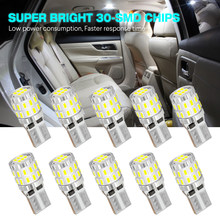 NOVSIGHT 10PCS High Quality T10 W5W Super Bright 3014 LED Car Interior Reading Dome Light Marker Lamp 30leds Bulbs 6500K 300LM(China)