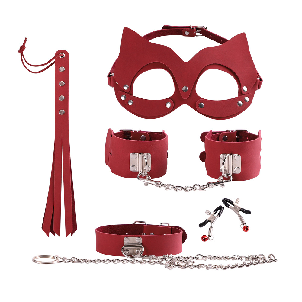 Hot Sex Toys Handcuffs Police Cosplay Tools Toys for Set Handcuffs Nipple Clamps Gag Whip Rope Sex Toys For Couples (7)