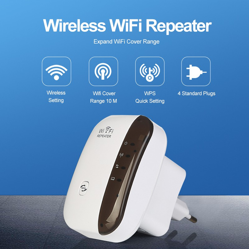 300Mbps Wireless Wifi Repeater Network Wifi Extender Long Range Signal Amplifier Internet Antenna Signal Booster EU US Plug