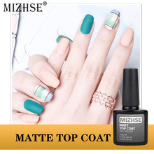 Mizhse Matte Top Coat Nail Art Uv Gel Beruntung untuk Manicure Matte Matte Top Cat Kuku Pernis Lacquer Hot Sale sehat Lem Akrilik(China)