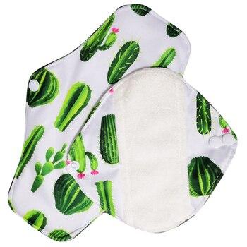 Free shipping organic bamboo inner washable reusable Feminine Hygiene menstrual pads sanitary pads lady cloth pad panty liner1pc 1