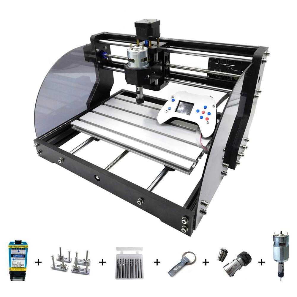 CNC 3018 Pro Max Laser Stecher CNC Holz Router 3 Achse PCB Fräsen DIY Laser Stecher Maschine Mit Offline Controller 0,5 W-15W