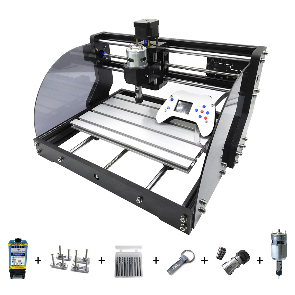 CNC 3018 Pro Max Laser Engraver CNC Wood Router 3 Axis PCB Milling DIY Laser Engraver Machine With Offline Controller 0.5W-15W