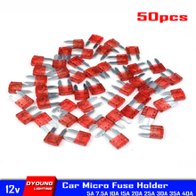 Blade sigortalar araba Mini Anl sigorta tutucu sigorta 10 Amp 5A 7.5A 15A 20A 25A 30A 40A otomatik 12V test cihazı standart konnektör Dyoung 50 adet