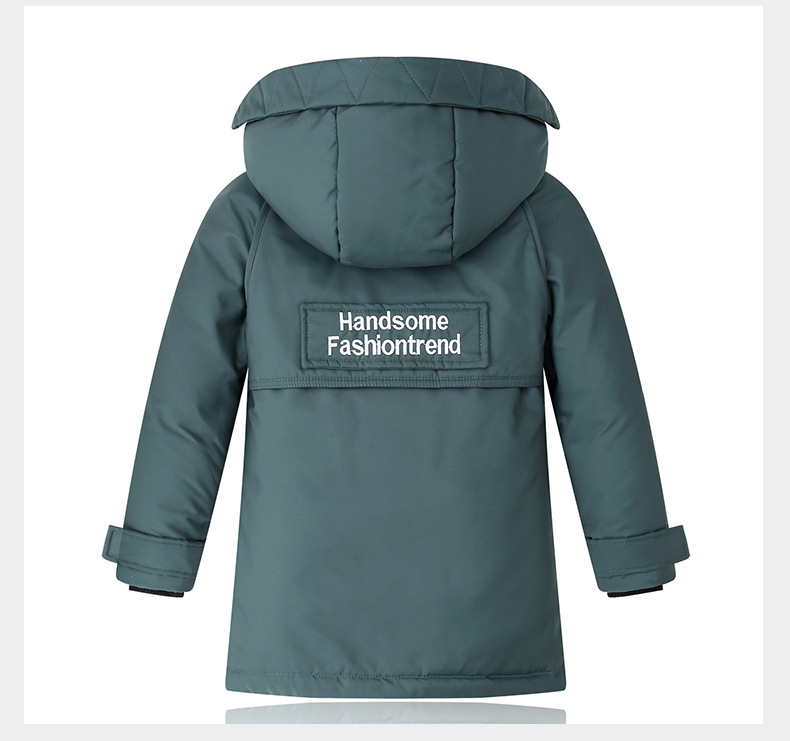 -30 graus de inverno crianças casacos engrossar