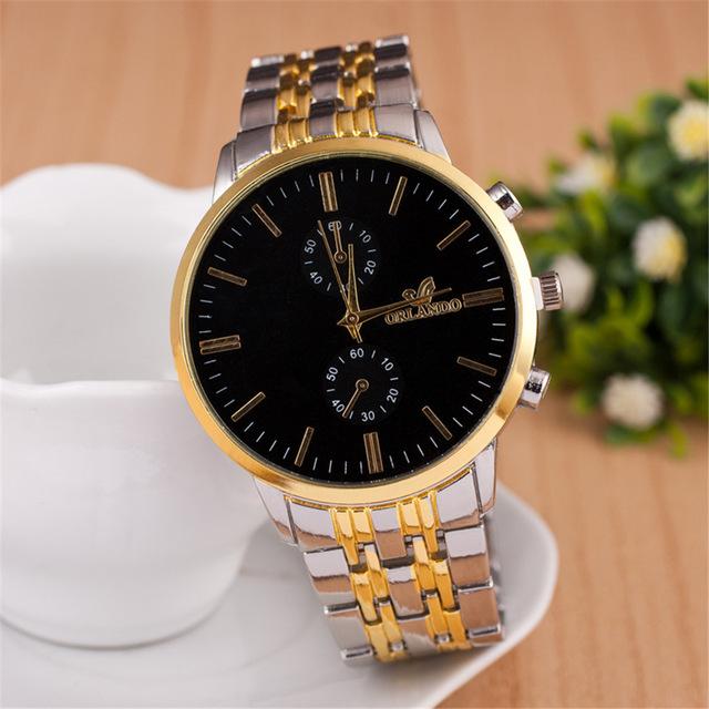 Wish Hot Selling between Gold Watch Men Business Watch Wholesale Alloy Quartz Watch Men a Generation of Fat