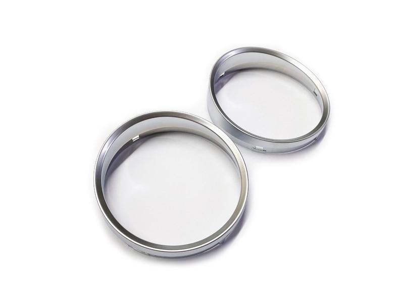 Visor anéis de prata fosca para painel, com armação para bmw e60 e61 pré-lci m5