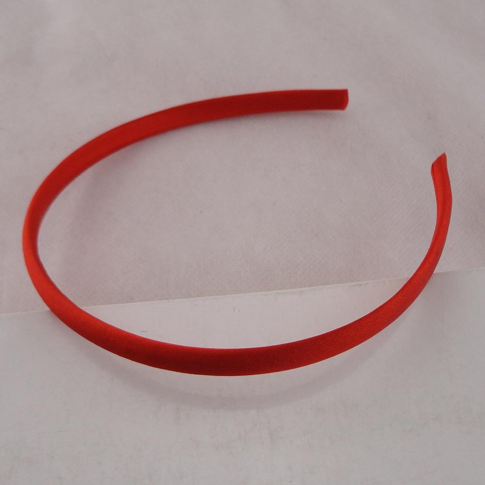 10 шт 10 мм горячая красная атласная ткань покрытая простые пластиковые повязки для волос для ручной работы украшения для волос
