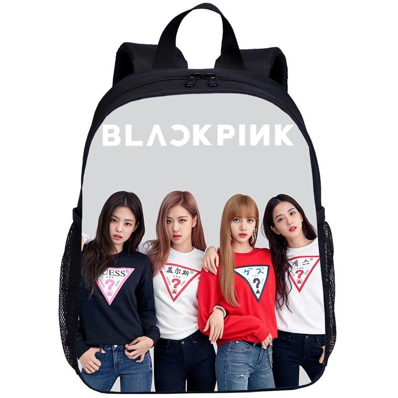 New 2019 Blackpink Jisoo Rose Lisa Kids Backpacks School Bags Kindergarten Children Backpack Girl Cute Travel Bag Mochila Escola