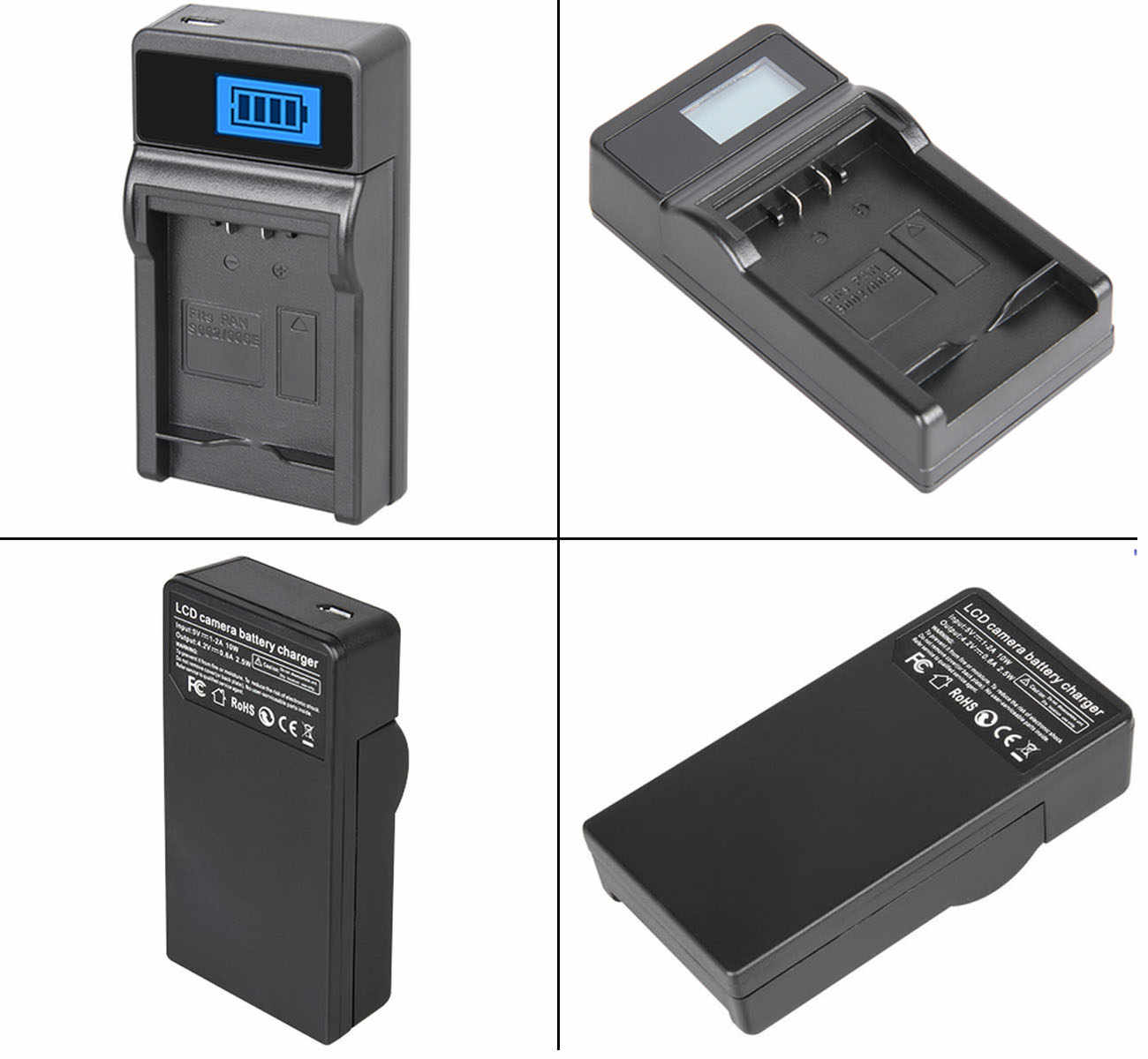 LCD Micro USB Battery Charger For JVC Everio GZ-MG365 GZ-MG365BUS Camcorder GZ-MG365BU GZ-MG365U