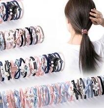 Резинки для волос конского хвоста резинки с шарфом эластичная