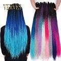 VERVES Омбре Сенегальские твист крючком косы 24 дюйма 30 корней/упаковка синтетические волосы для женщин серый, синий, розовый, коричневый